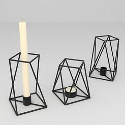 CANDLE HOLDER.JPG Download OBJ file candle holder • 3D print design, mojtabaheirani
