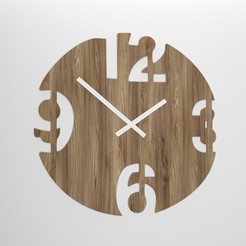 PR1.jpg Download OBJ file DECORATIVE WALL CLOCK - 13 • 3D printable model, mojtabaheirani