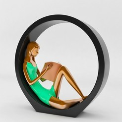 3D print files Female Reading - decor, mojtabaheirani