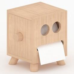 01.jpg Download OBJ file Toilet paper holder • 3D printable model, mojtabaheirani
