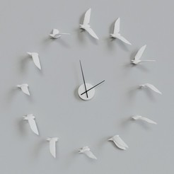 STL DECORATIVE WALL CLOCK, mojtabaheirani