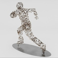WireSculptureRun.jpg Download OBJ file Wire Sculpture • 3D printer design, mojtabaheirani