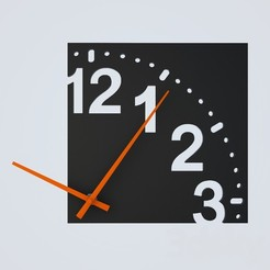 WATCH.jpeg Download OBJ file DECORATIVE WALL CLOCK - 09 • 3D printable design, mojtabaheirani