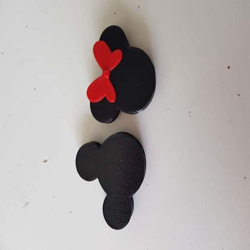 Download free 3D printer model Mickey and Minnie knitting needle guards, Tom_le_Belk