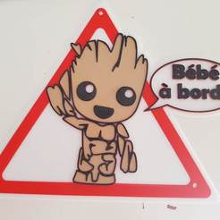 20200914_143135.jpg Download free STL file Baby groot on board • Template to 3D print, Tom_le_Belk