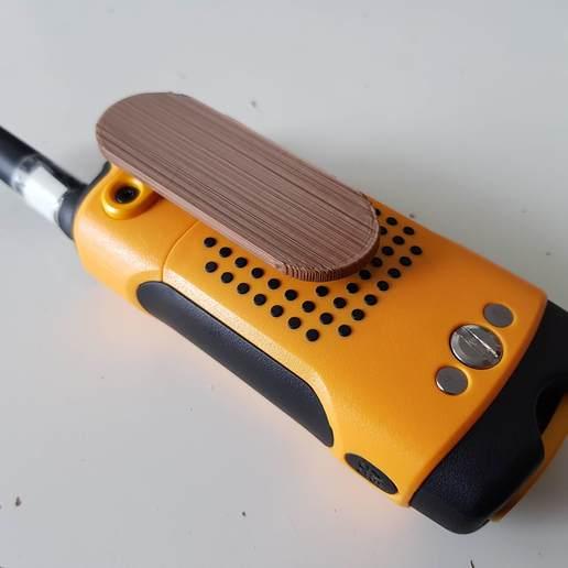 20200308_102805.jpg Download free STL file Belt clip walkie-talkie motorola T80 • Model to 3D print, Tom_le_Belk