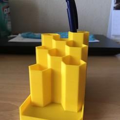 Plan imprimante 3D gatuit Porte crayon pen honey, Jeya