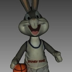 Free STL file Bugs Bunny, Plonumarr