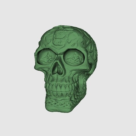 Free 3D printer designs Celtic Skull, Plonumarr