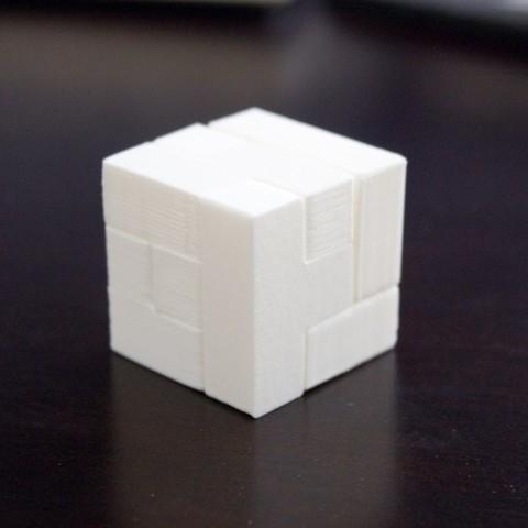 Free 3D printer designs Coffin's Half Hour Cube, Plonumarr