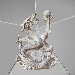 Free STL files Dragon with pearl, Plonumarr