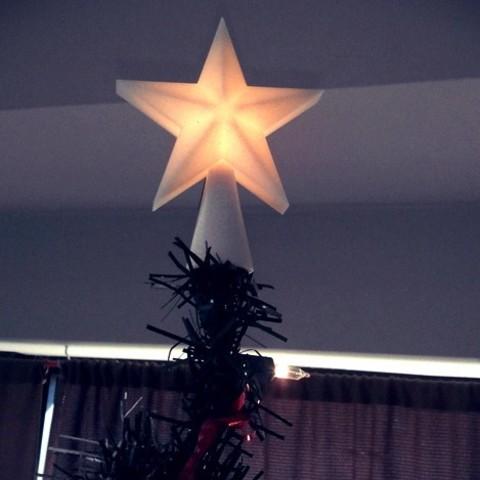 Free 3D printer files Desktop Christmas Tree Star Topper, Plonumarr