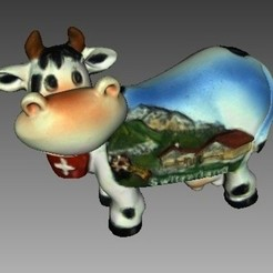 Free 3D printer files Cow from Switzerland, Plonumarr