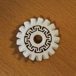 Download free STL file Sprung Extruder Gear, Rowynolon