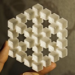 Free 3D printer model Penrose Cube Illusion, Rowynolon