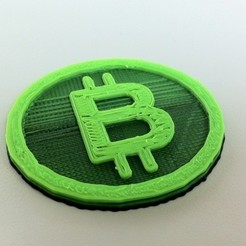 Download free 3D printer templates A Bit Coin, Rowynolon