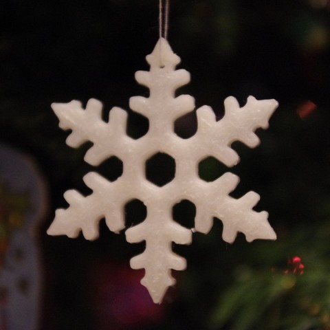 Download free 3D printer model Christmas snowflake decoration, Rowynolon
