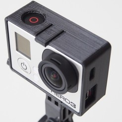 Download free 3D printing models GoPro Hero3 mounting frame (Black Edition), Rowynolon