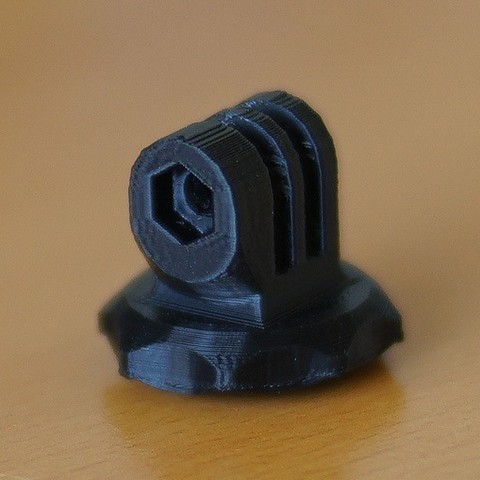"""Download free 3D model Gopro mount for 1/4""""-20 nut and no support, Rowynolon"""