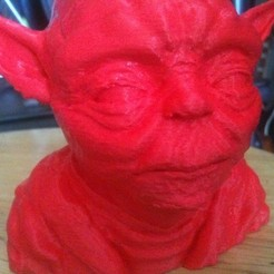 Download free STL yoda lite 100 mm tall, Bolog3D