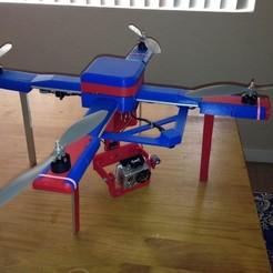 Imprimir en 3D gratis Drone Autónomo - Quadcopter - (LiteCeptor) Modelo APM 2.5, Bolog3D