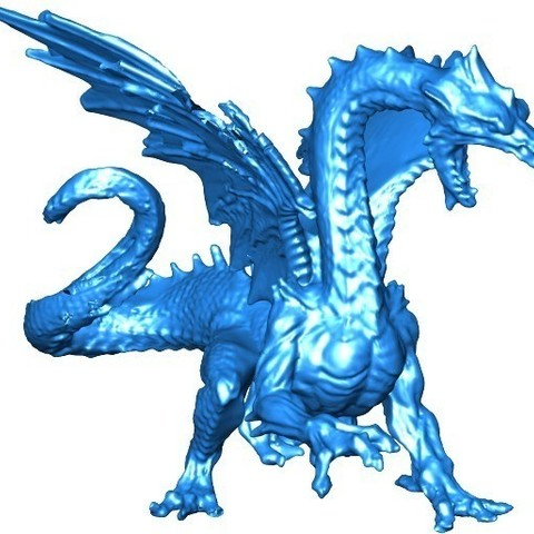 Free 3D printer files Ice Dragon, Bolog3D