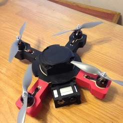 Free STL files Covers and GoPro Camera Attachment for Small Phrai Wood QuadCopter, Bolog3D