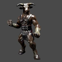Free 3D printer designs Minotaur, Bolog3D
