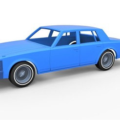 1.jpg Download STL file Diecast shell and wheels Cadillac Seville 1979 4 doors Scale 1 to 25 • Design to 3D print, CosplayItemsRock