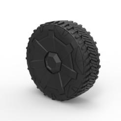 1.jpg Descargar archivo STL Diecast Wheel de Tesla Cyberpunk camión • Diseño para la impresora 3D, 3DTechDesign