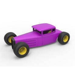 STL file Diecast shell and wheels for Hot rod Scale 1 to 24, DmK