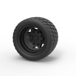 Download 3D printing models Diecast Offroad wheel 14, 3DTechDesign