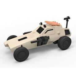 STL Diecast model Dune buggy from movie Megaforce 1982 Scale 1:24, DmK