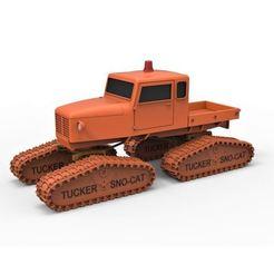Imprimir en 3D Diecast modelo Tucker Sno-Cat 442a Escala 1 a 24, DmK