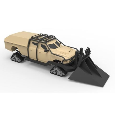 Download 3D printing models Diecast model Dodge Ice Ram from the Fast 8 Scale 1:24, DmK