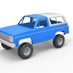 1.jpg Download STL file Diecast shell and wheels 1980 Chevrolet Blazer K5 Scale 1 to 25 • 3D printing object, CosplayItemsRock