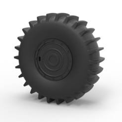 3D printing model Diecast Wheel from SHERP ATV, DmK