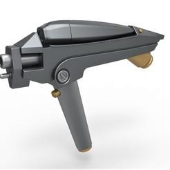 1.jpg Download STL file USS Kelvin Phaser from the movie Star Trek 2009 • 3D print object, CosplayItemsRock