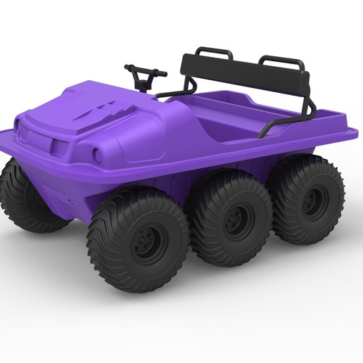 Download 3D printing designs Diecast Argo 750 HD 6x6 Scale 1 to 18, 3DTechDesign