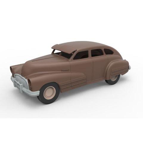 Télécharger plan imprimante 3D Coquille et roues moulées sous pression Buick Special Berline 1947 Échelle de 1 à 24, DmK