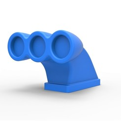 Download 3D printer files Diecast Air intake 2 Scale 1 to 25, 3DTechDesign