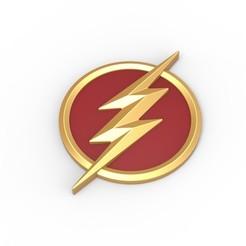 Download 3D model 3D printable Flash emblem, DmK
