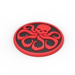 Download 3D printing models 3D printable HYDRA emblem, 3DTechDesign