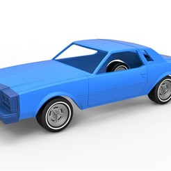 Download 3D printer model Diecast shell and wheels Buick Regal 1977 Scale 1 to 25, 3DTechDesign