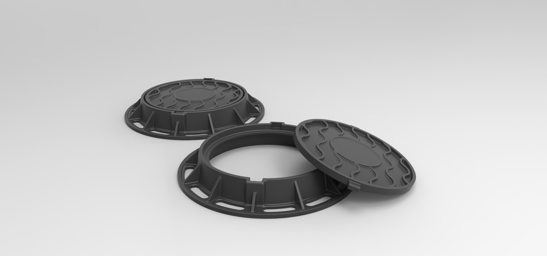 4.jpg Download free STL file Diecast model Street manhole Scale 1:10 • 3D printable template, 3DTechDesign