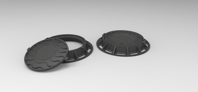 3.jpg Download free STL file Diecast model Street manhole Scale 1:10 • 3D printable template, 3DTechDesign
