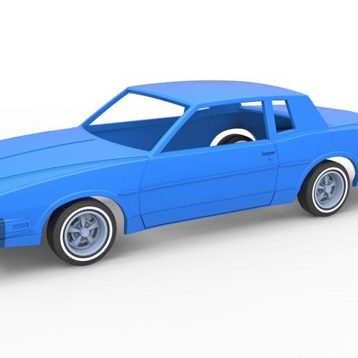 Descargar modelos 3D para imprimir Cáscara y ruedas Diecast Gran Premio de Pontiac 1986 Escala 1 a 25, 3DTechDesign