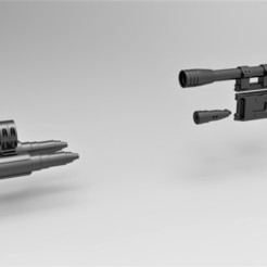 Download STL Cosplay parts for Blaster Rifle DLT-19D from Star Wars, 3DTechDesign