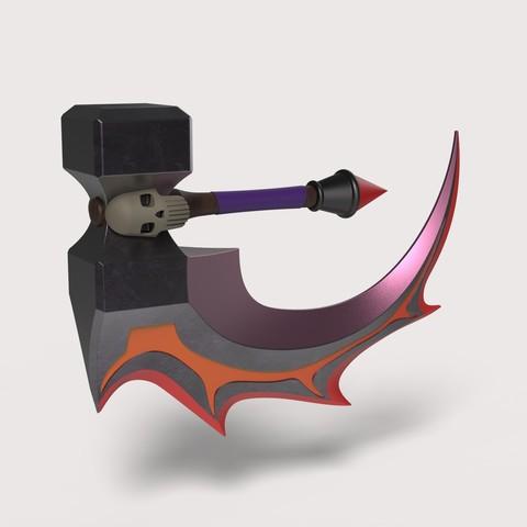 3D printing model Basher Blade from Dota 2, DmK