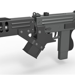 1.jpg Télécharger fichier STL Submachine gun modified MAC-10 from the movie Blade 2 2002 • Objet pour impression 3D, 3DTechDesign